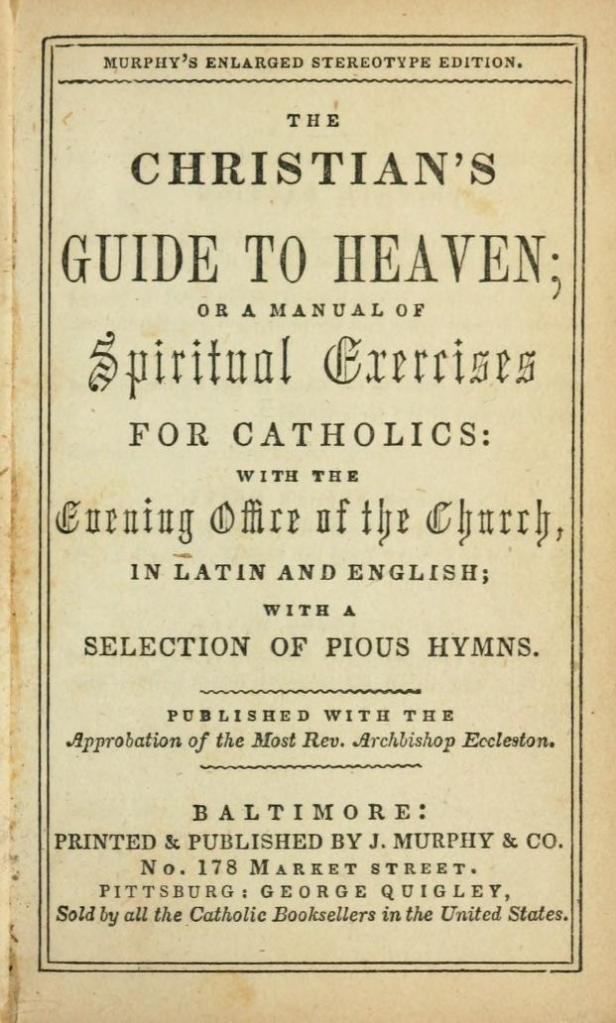 Cover of an 1844 edition of The Christian's Guide (Image Source: Internet Archive)
