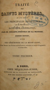 An 1828 edition of Collet's