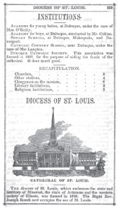 Page from the 1841 Metropolitan Catholic Almanac. Image from Hathitrust.