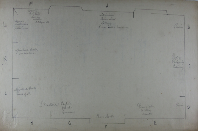 Map of the St. Stanislaus Library. Collection of Jesuit Archives, Central United States