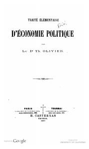 Hathitrust copy of Olivier's Traite