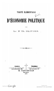 Hathitrust copy of Olivier's Traite